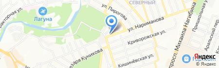 Водолей на карте Ростова-на-Дону