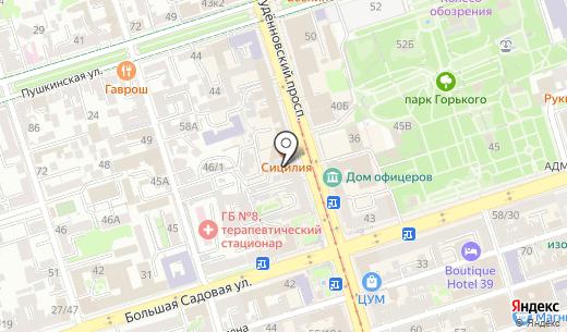 Korona. Схема проезда в Ростове-на-Дону