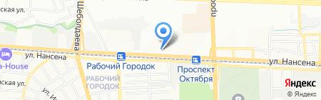 Кирпичный Двор на карте Ростова-на-Дону