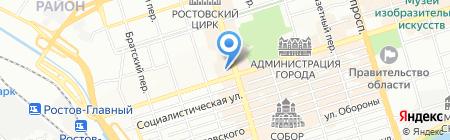 Лига ставок на карте Ростова-на-Дону
