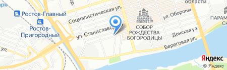 Трио-Тур на карте Ростова-на-Дону