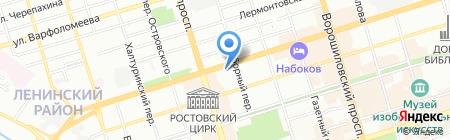 Банкомат БКС на карте Ростова-на-Дону