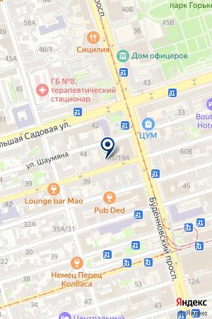 Доберман на карте Ростова-на-Дону