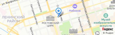 Общежитие Техникум на карте Ростова-на-Дону