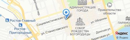 Акцент Тревел на карте Ростова-на-Дону