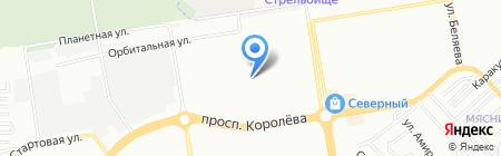 Средняя общеобразовательная школа №107 на карте Ростова-на-Дону