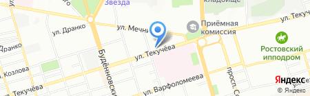 Экспериментальная детская музыкальная школа для одаренных детей на карте Ростова-на-Дону