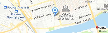 Банком на карте Ростова-на-Дону