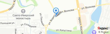 Продуктовый магазин на ул. Борко на карте Ростова-на-Дону