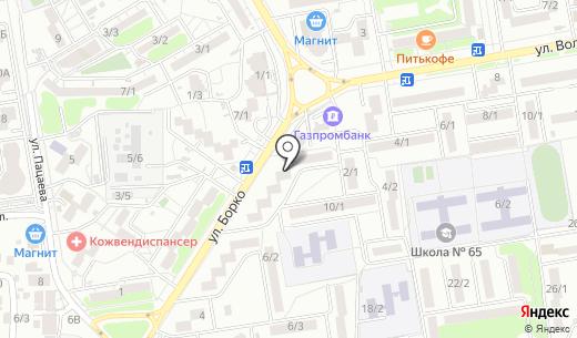Продуктовый магазин на ул. Борко. Схема проезда в Ростове-на-Дону