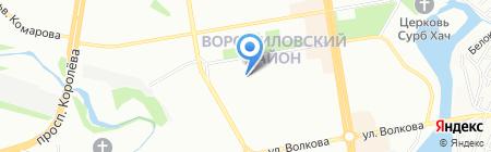 Гимназия №118 на карте Ростова-на-Дону