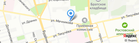 Детский сад №142 Тополек на карте Ростова-на-Дону