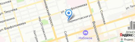 Уважаемые пассажиры на карте Ростова-на-Дону