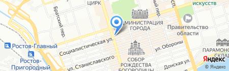 Бахчисарай на карте Ростова-на-Дону