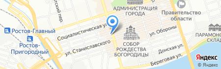 Банкомат Национальный Банк ТРАСТ на карте Ростова-на-Дону
