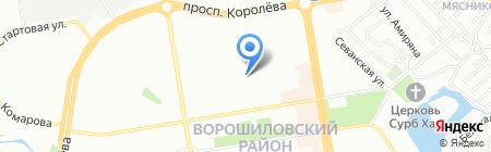 Средняя общеобразовательная школа №30 на карте Ростова-на-Дону