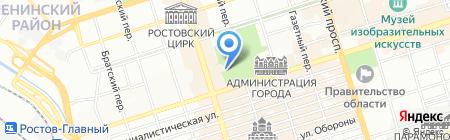 Зелёная горка на карте Ростова-на-Дону