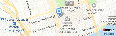 Монро на карте Ростова-на-Дону