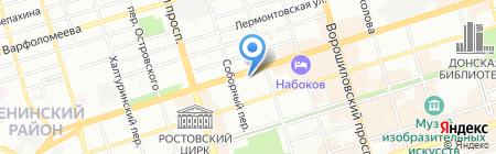Детский сад №56 Радуга на карте Ростова-на-Дону