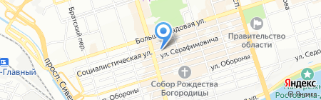 Под аркой на карте Ростова-на-Дону
