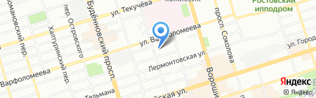 Хамам на карте Ростова-на-Дону