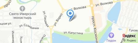 Атес на карте Ростова-на-Дону
