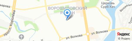 Средняя общеобразовательная школа №104 на карте Ростова-на-Дону