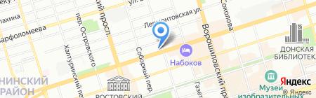 Персик на карте Ростова-на-Дону
