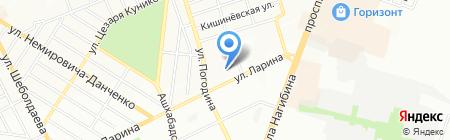 Вектор на карте Ростова-на-Дону