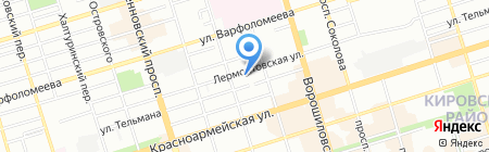 Рутон-Юг на карте Ростова-на-Дону