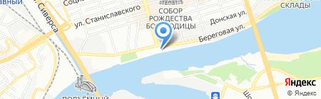 Тихий Дон на карте Ростова-на-Дону