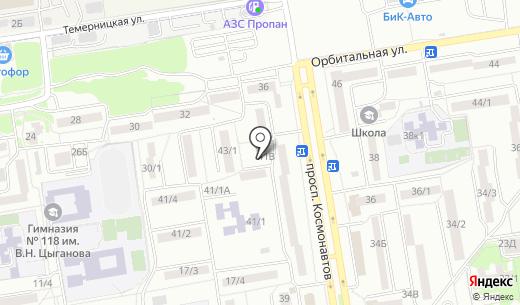 Каскад. Схема проезда в Ростове-на-Дону