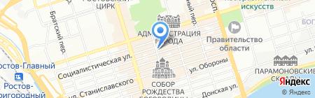 Трэвел на карте Ростова-на-Дону