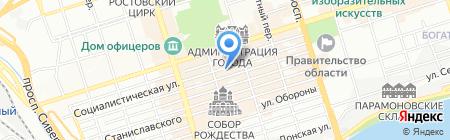 Детский сад №50 Веселые ребята на карте Ростова-на-Дону