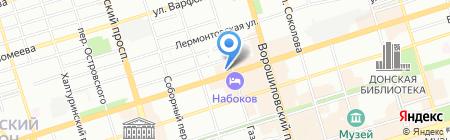 Жеглов на карте Ростова-на-Дону