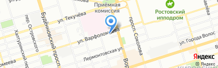 Комфорт на карте Ростова-на-Дону