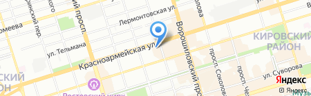Фартук на карте Ростова-на-Дону