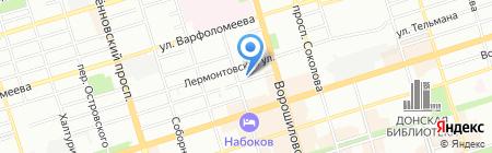 Ализе-Дон на карте Ростова-на-Дону