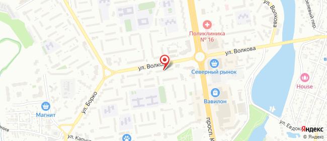 Карта расположения пункта доставки На Волкова в городе Ростов-на-Дону