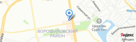 Гости на карте Ростова-на-Дону
