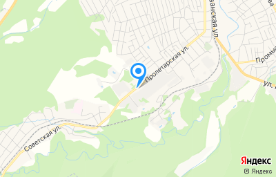 Местоположение на карте пункта техосмотра по адресу Краснодарский край, г Апшеронск, ул Пролетарская, д 181Б