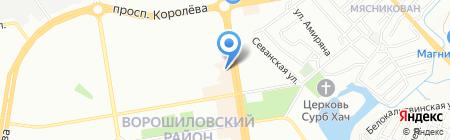 Водопад на карте Ростова-на-Дону