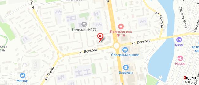 Карта расположения пункта доставки Ростелеком в городе Ростов-на-Дону
