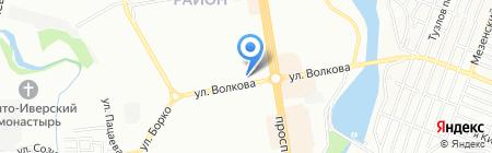 ДжинСА на карте Ростова-на-Дону