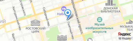 Банкомат Нордеа Банк на карте Ростова-на-Дону