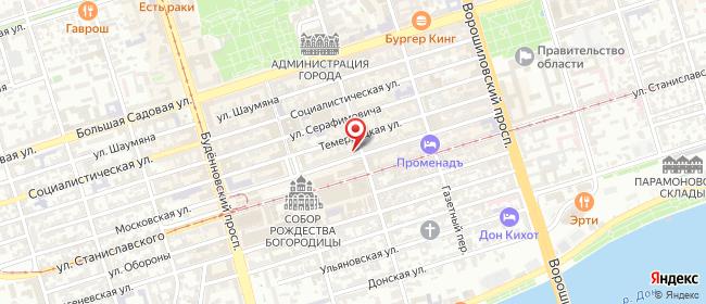 Карта расположения пункта доставки Ростов-на-Дону Московская в городе Ростов-на-Дону