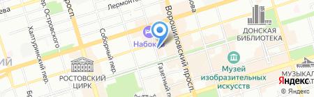 ЭваЛайн на карте Ростова-на-Дону