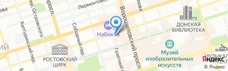 Средняя общеобразовательная школа №49 на карте Ростова-на-Дону