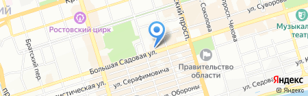 Веселый Чемодан на карте Ростова-на-Дону