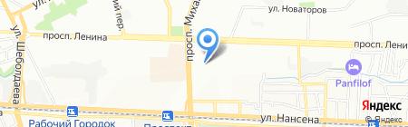 Прометей на карте Ростова-на-Дону
